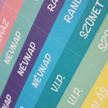 Életszövő matricás oldal - feliratok